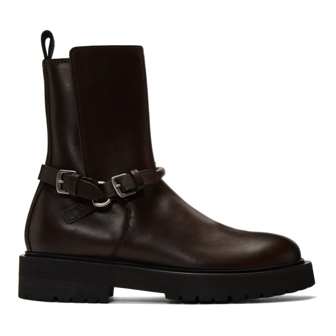 Photo: Bottega Veneta Brown Leather Buckled Boots