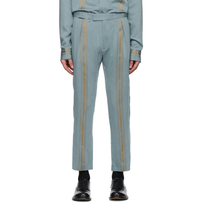 Photo: Ann Demeulemeester Blue and Gold Naval Trousers