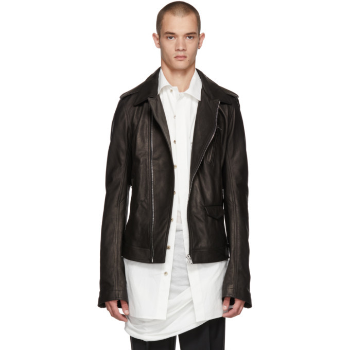 Photo: Rick Owens Black Leather Stooges Jacket