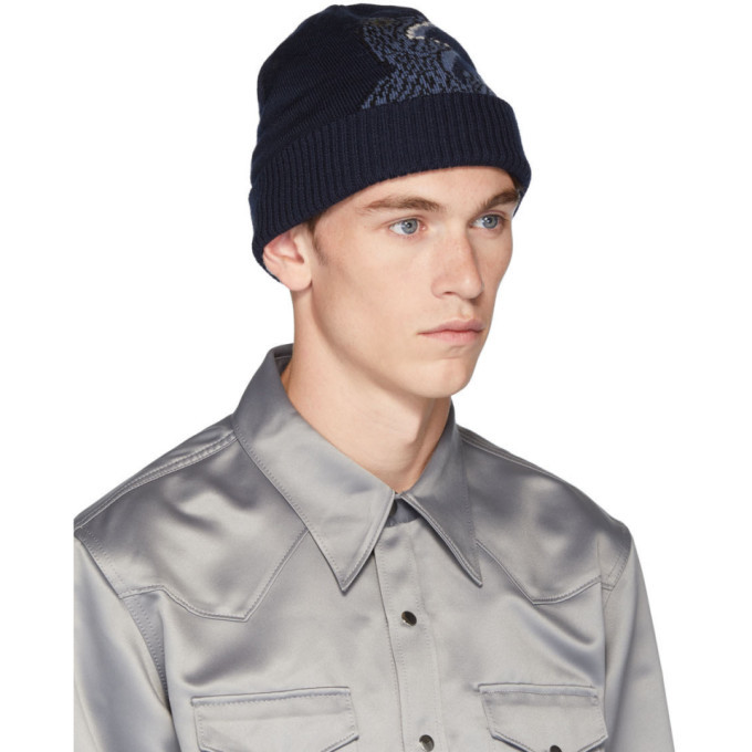 PS by Paul Smith Navy Dino Beanie