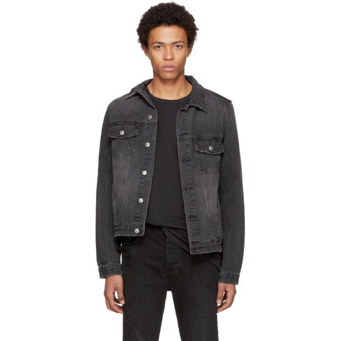 Ksubi Black Classic Denim Jacket