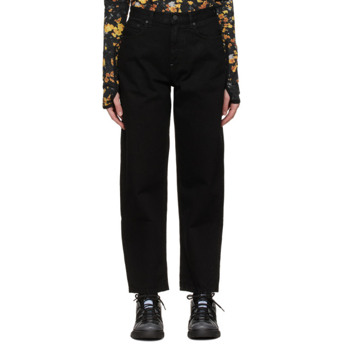 MCQ Black Curved Leg Jeans