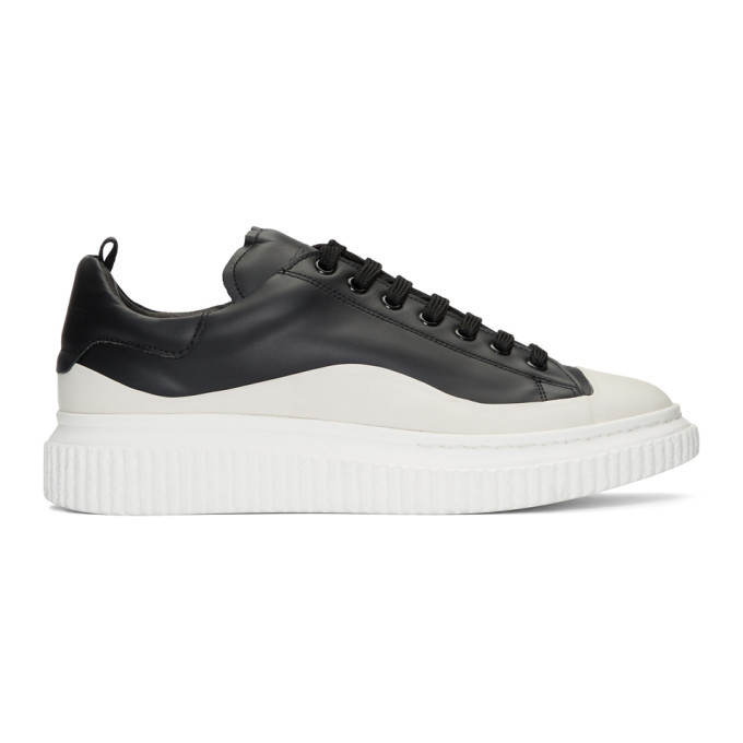 Photo: Officine Creative Black and White Krace 8 Sneakers