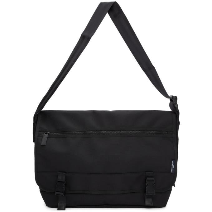 Photo: Comme des Garcons Homme Black Nylon Canvas Messenger Bag