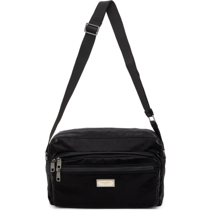 Photo: Dolce and Gabbana Black Nero Sicilia DNA Nylon Messenger Bag