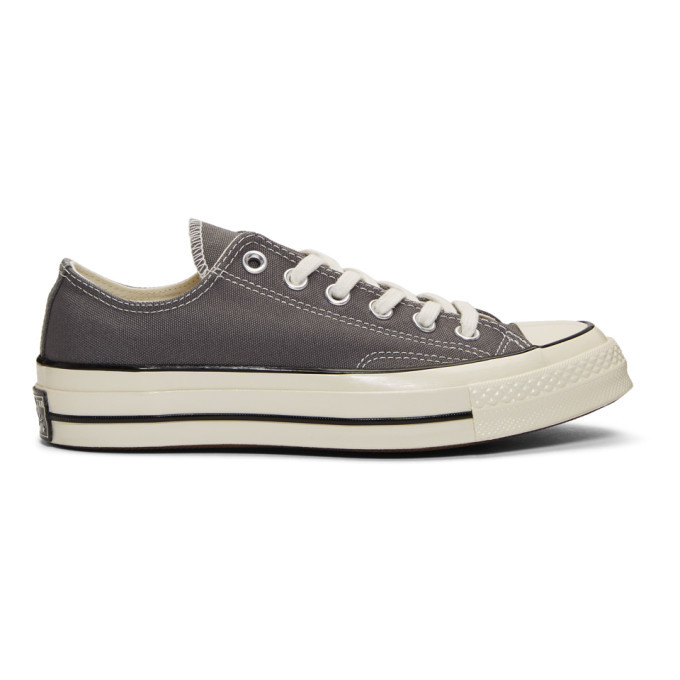 Photo: Converse Grey Chuck 70 Low Sneakers