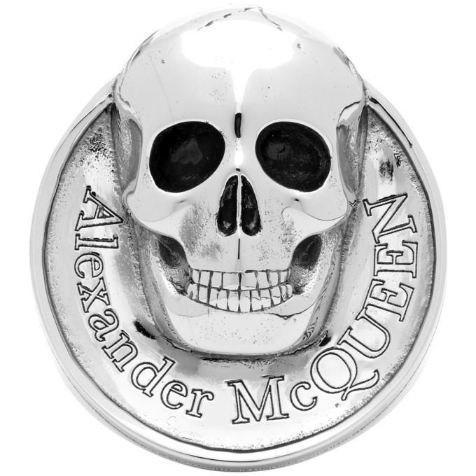 Photo: Alexander McQueen Silver Skull Coin Ring