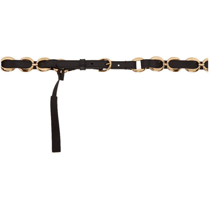 Photo: Gucci Black and Gold Round Buckle Belt
