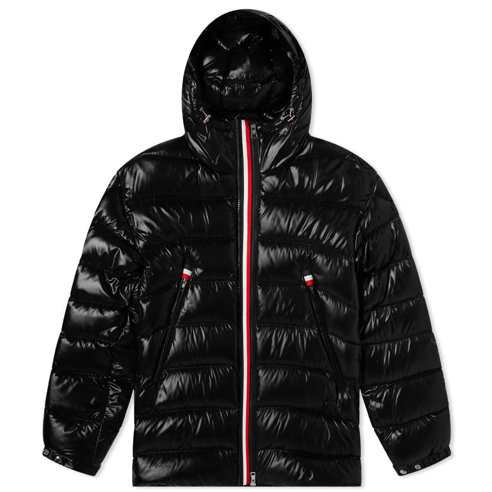 Moncler Courcillon Tricolore Zip Hooded Down Jacket