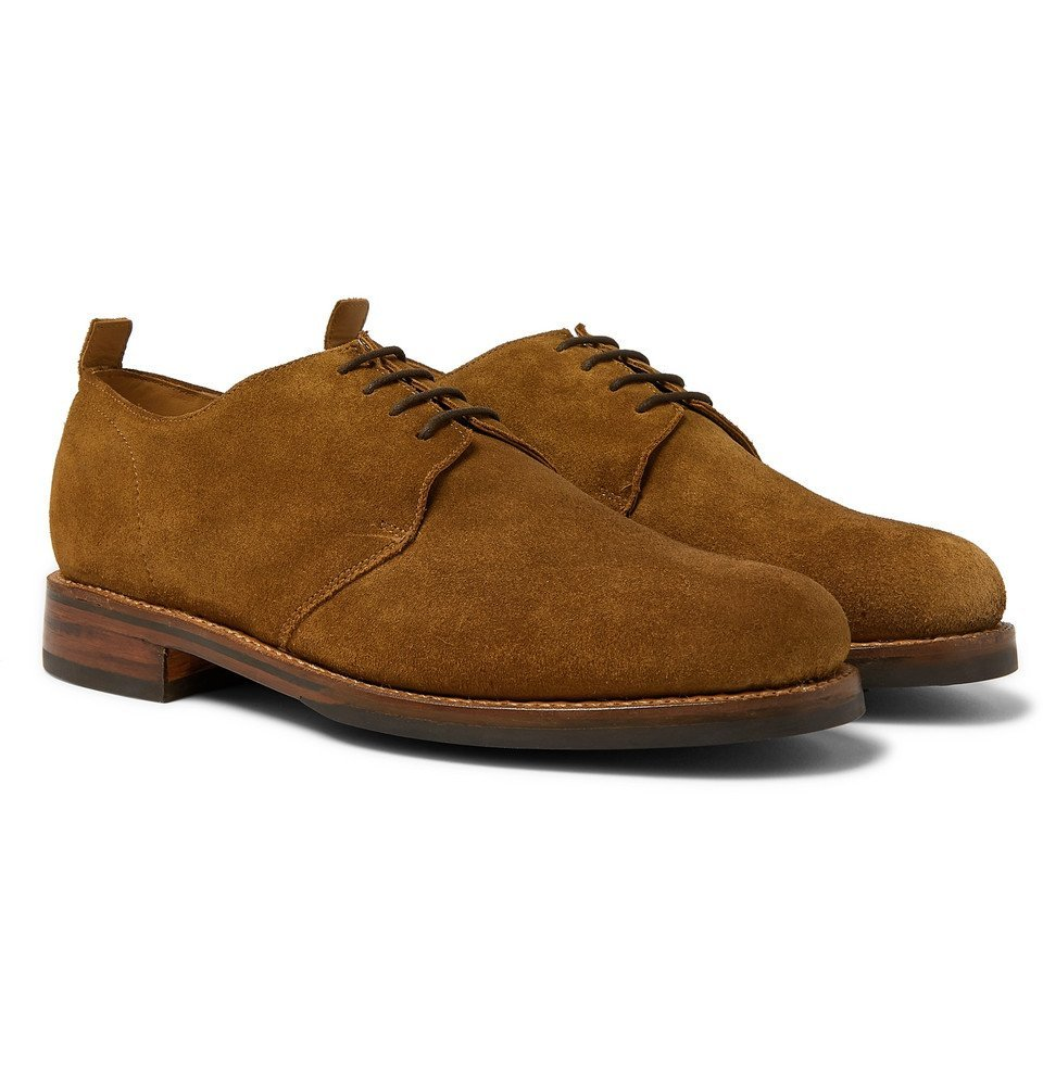 Photo: Grenson - Wade Suede Derby Shoes - Brown