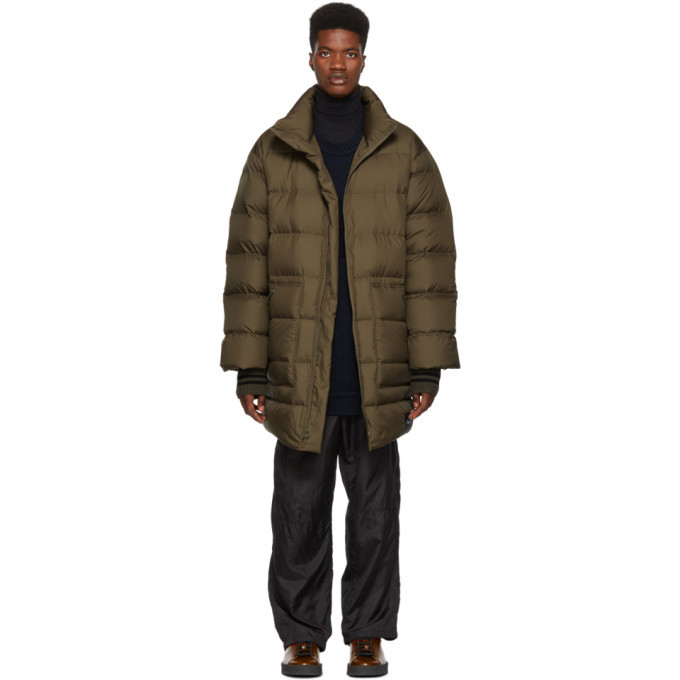 3.1 Phillip Lim Green Down Oversized Coat