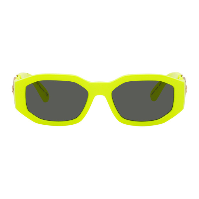 Photo: Versace Yellow Large Framed Sunglasses
