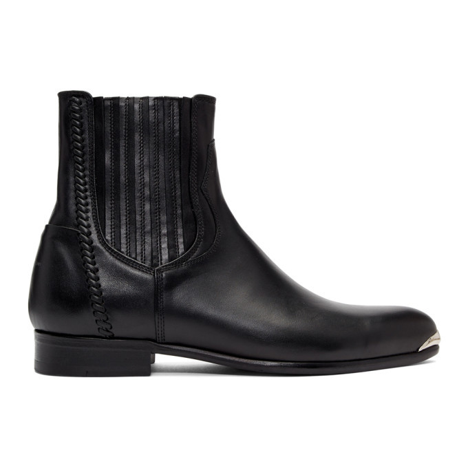 Photo: Wooyoungmi Black Pointed Chelsea Boots
