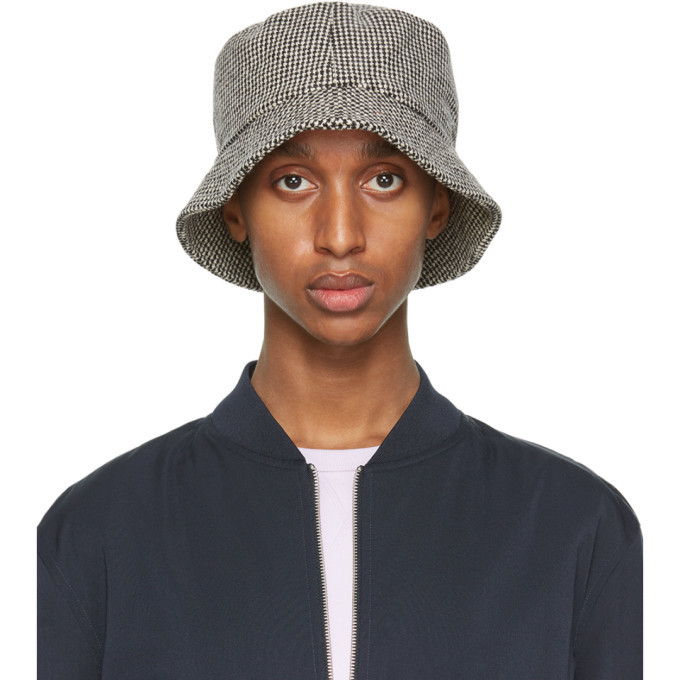 Photo: Officine Generale Black and White Houndstooth Bucket Hat