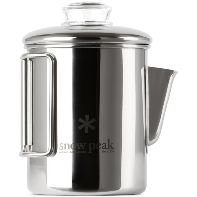 Photo: Snow Peak Silver Stainless Coffee Percolator, 30.4 fl oz