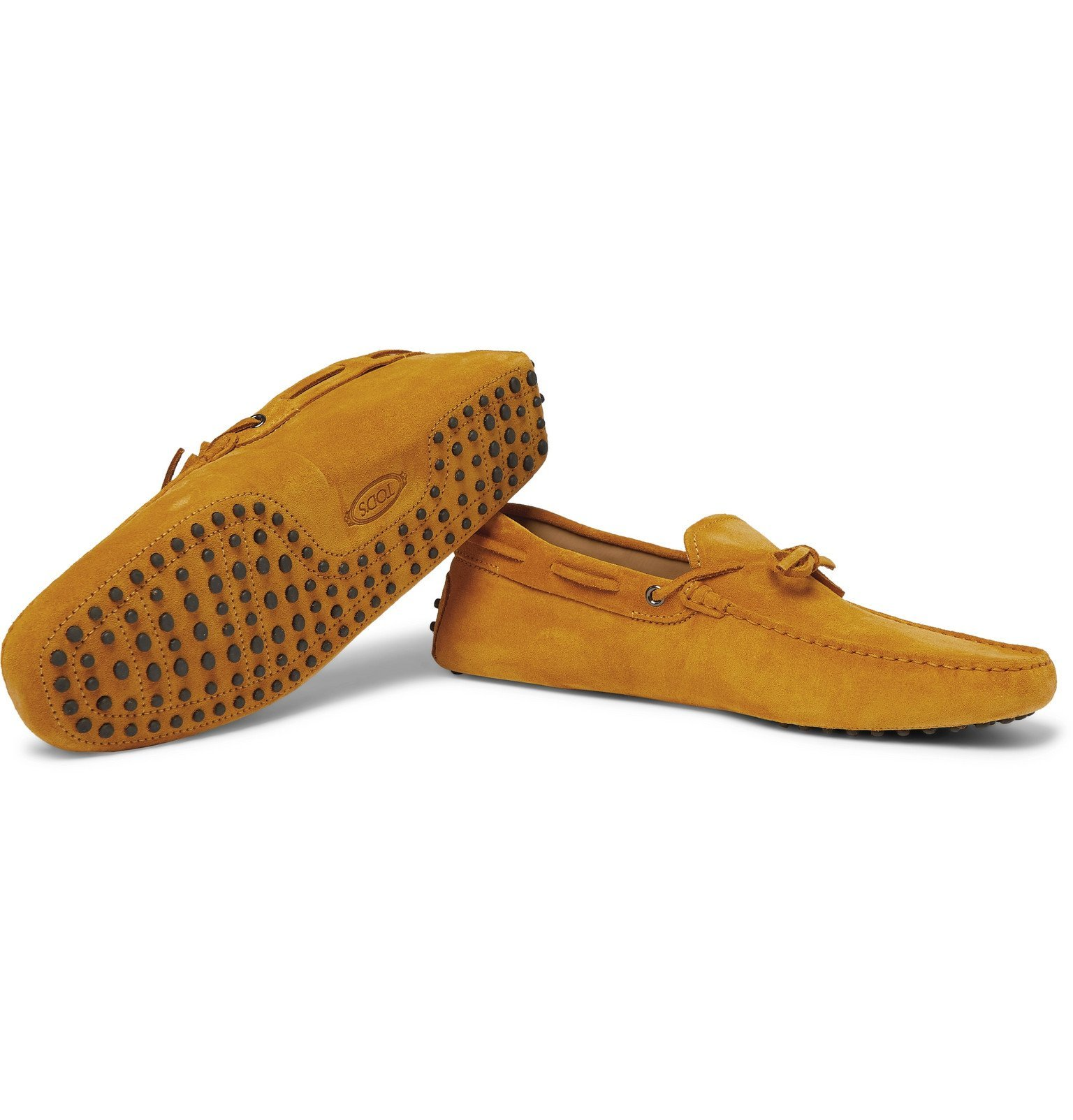 Tod's - Gommino Suede Driving Shoes - Yellow