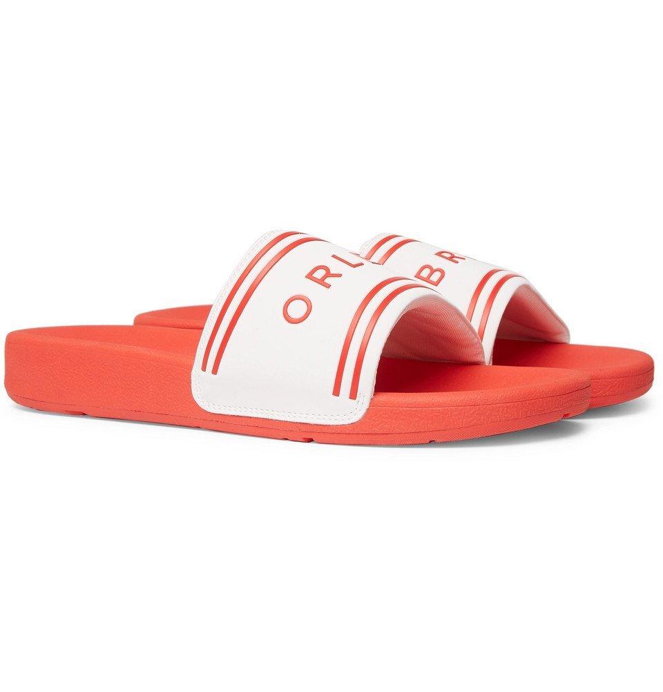 Photo: Orlebar Brown - Haddon Logo-Detailed Rubber Slides - Men - Red