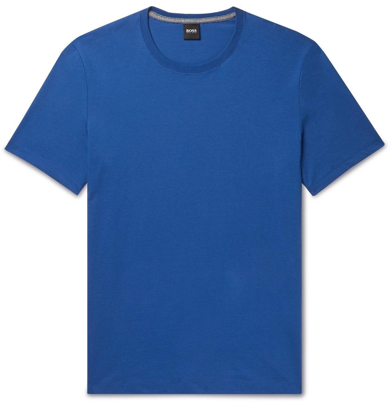 HUGO BOSS - Cotton-Jersey T-Shirt - Blue