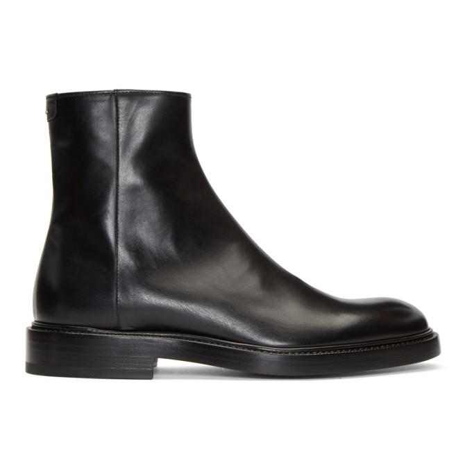 Photo: Maison Margiela Black Zip Chelsea Boots