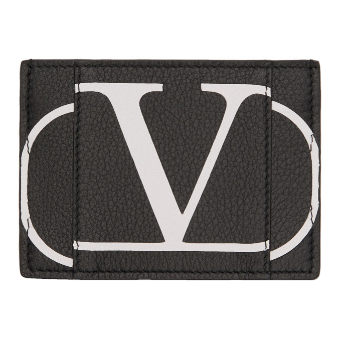 Photo: Valentino Black Valentino Garavani VLogo Card Holder