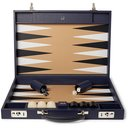 Dunhill - Boston Full-Grain Leather Travel Backgammon Set - Navy