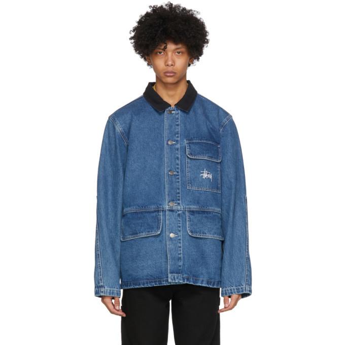 Photo: Stussy Blue Chore Denim Jacket