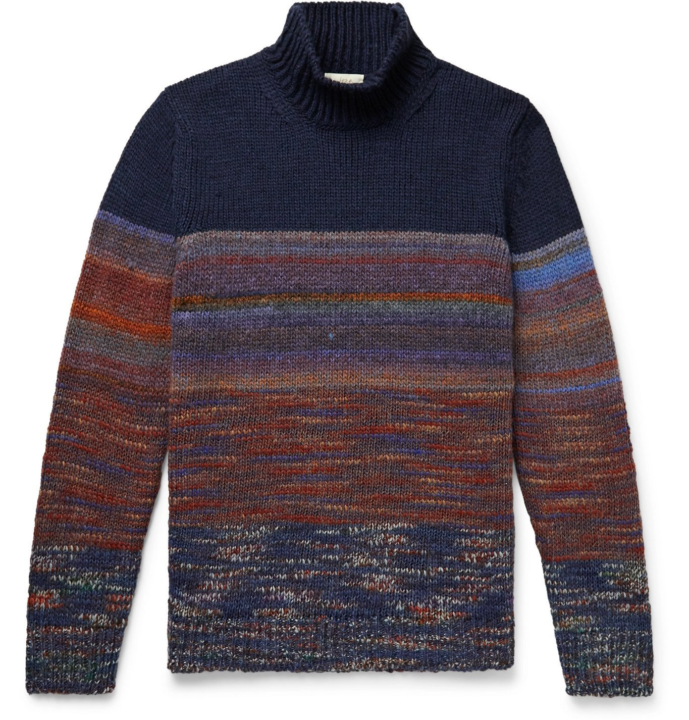 Photo: Altea - Space-Dyed Knitted Rollneck Sweater - Blue