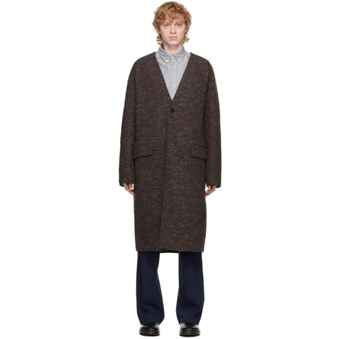 Photo: Kenzo Reversible Brown Wool Coat