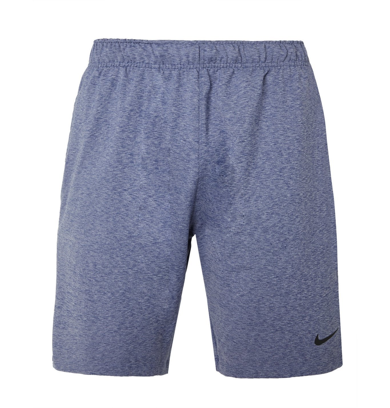 Photo: Nike Training - Mélange Dri-FIT Yoga Shorts - Blue