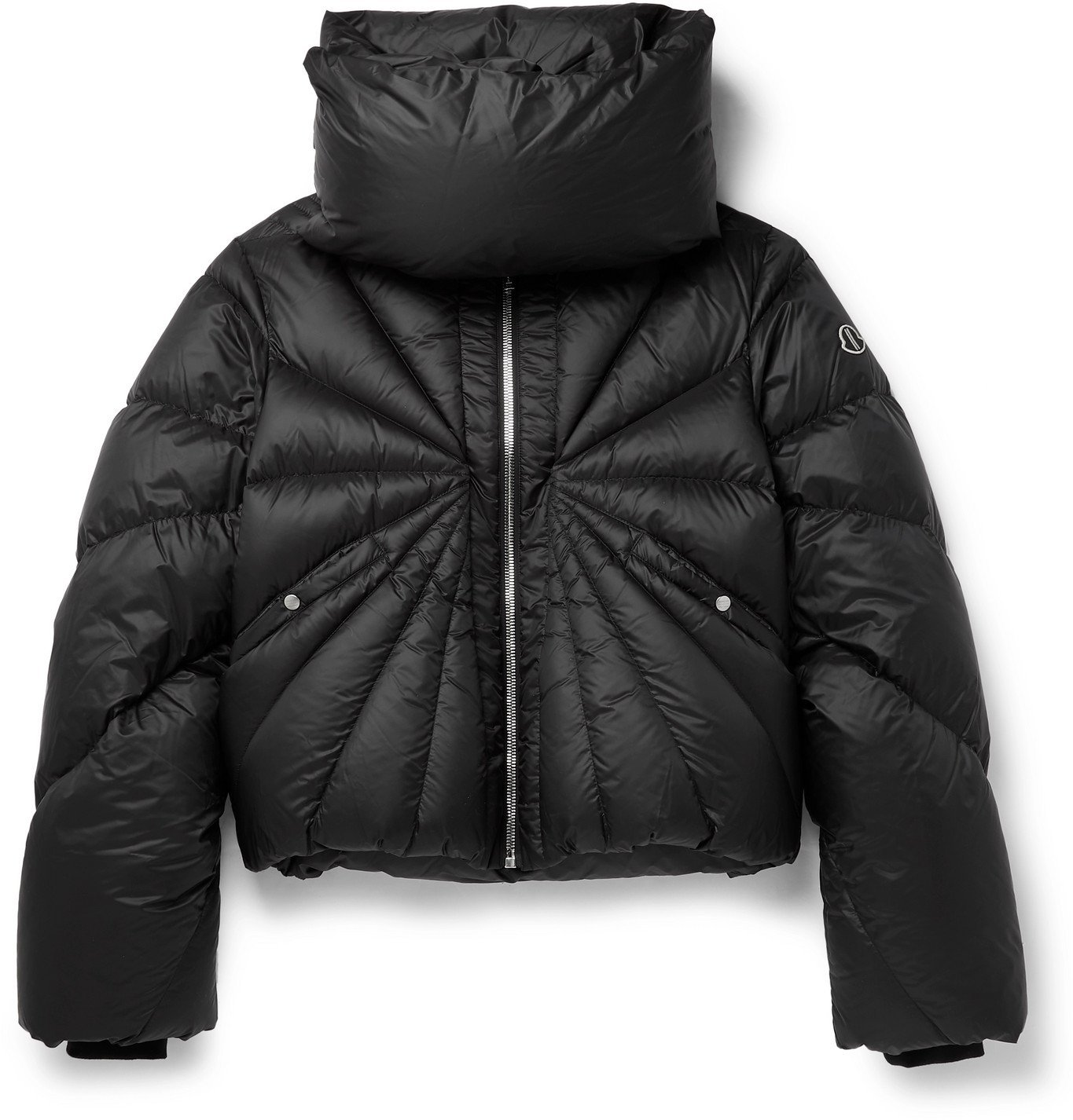 Photo: Rick Owens - Moncler Tonopah Logo-Appliquéd Quilted Shell Down Jacket - Black