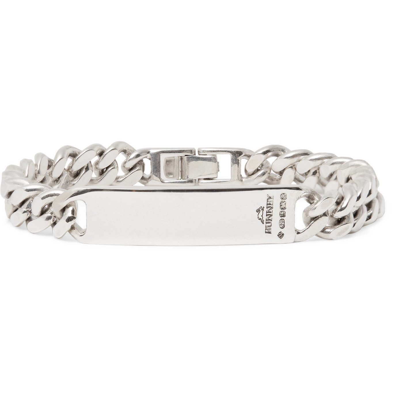 Photo: Bunney - Single Tour Sterling Silver ID Bracelet - Silver