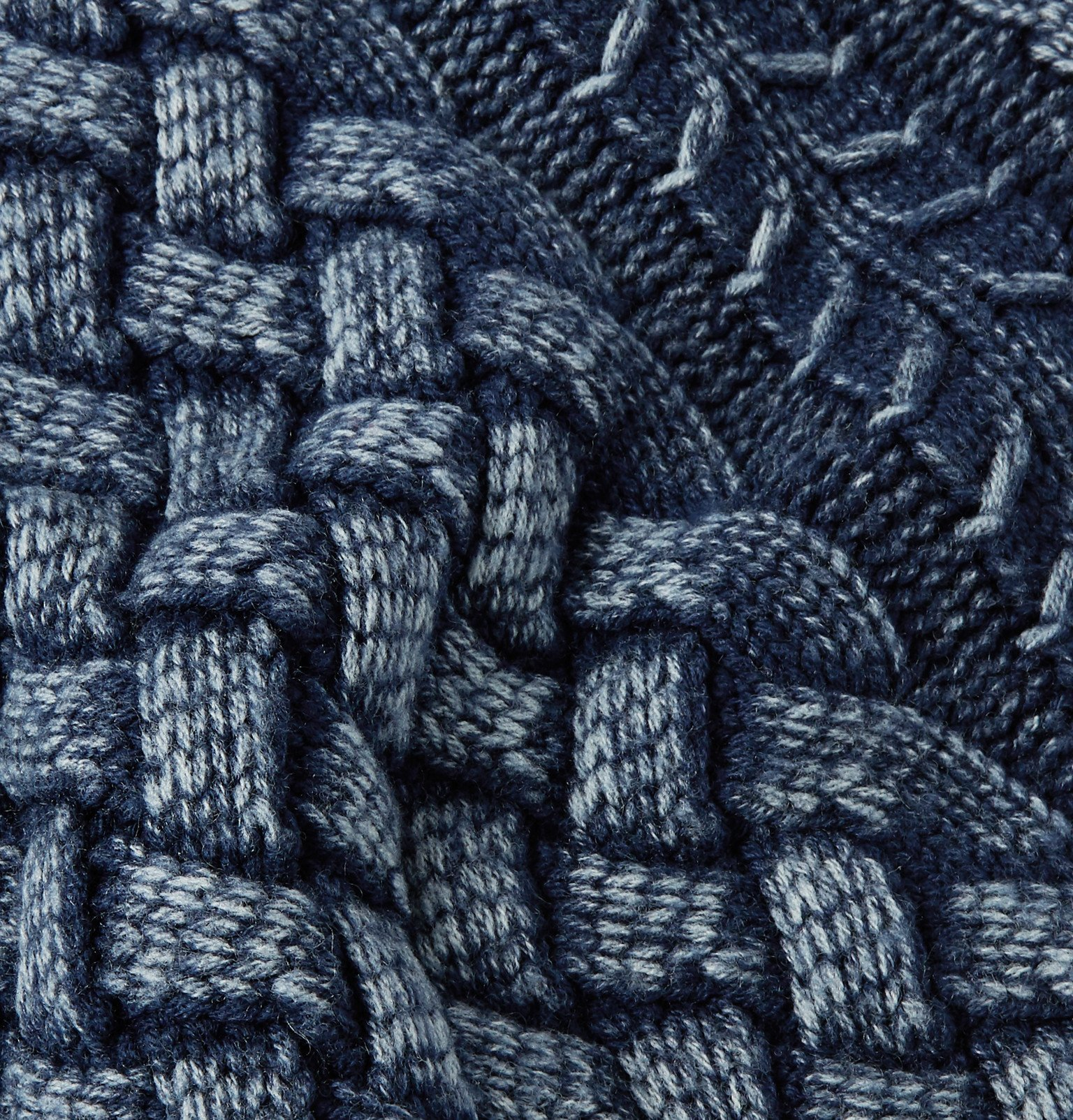 Tod's - Slim-Fit Cable-Knit Merino Wool Sweater - Blue
