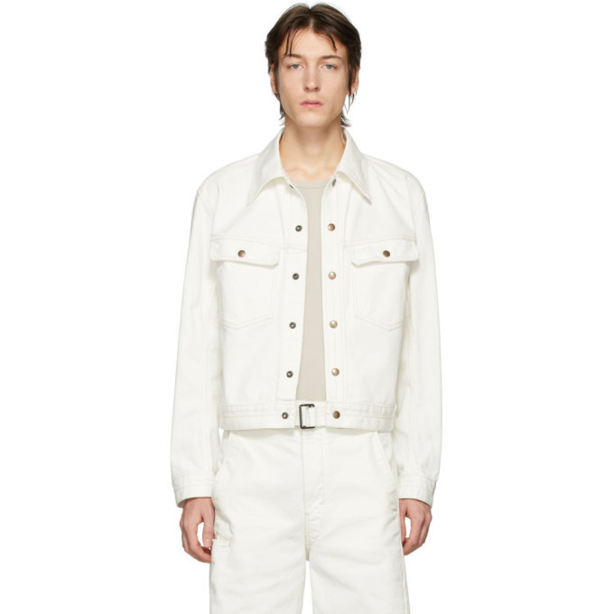 Photo: Lemaire Off-White Denim Trucker Jacket