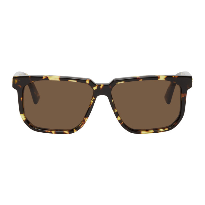 Photo: Bottega Veneta Tortoiseshell Square Sunglasses