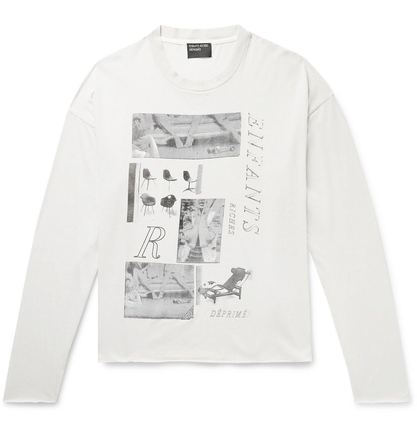 Photo: Enfants Riches Déprimés - Oversized Printed Cotton-Jersey T-Shirt - Neutrals