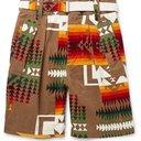 Sacai - Pendleton Printed Cotton-Corduroy Shorts - Brown
