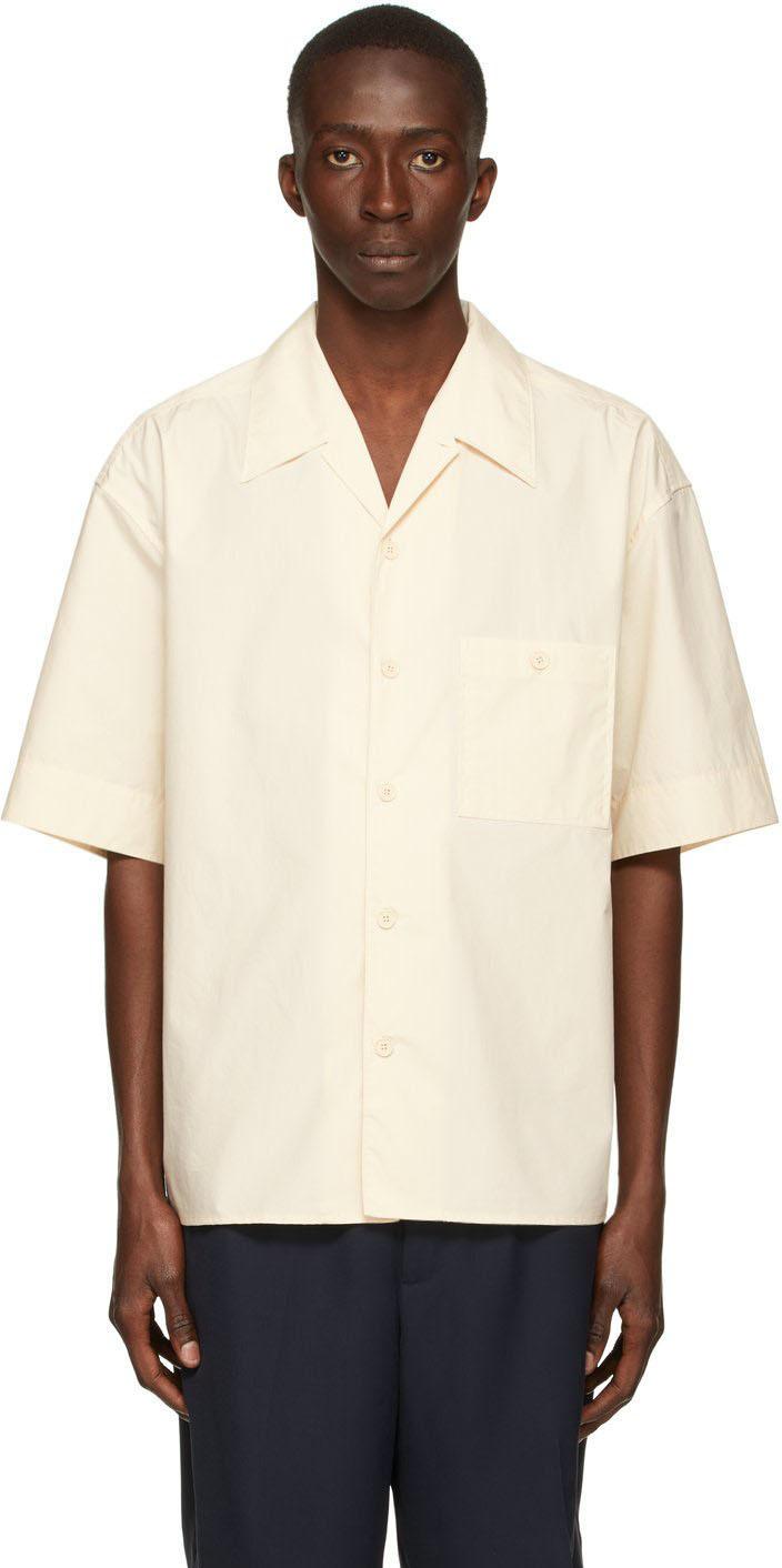 Photo: 3.1 Phillip Lim Off-White Poplin Short Sleeve Shirt