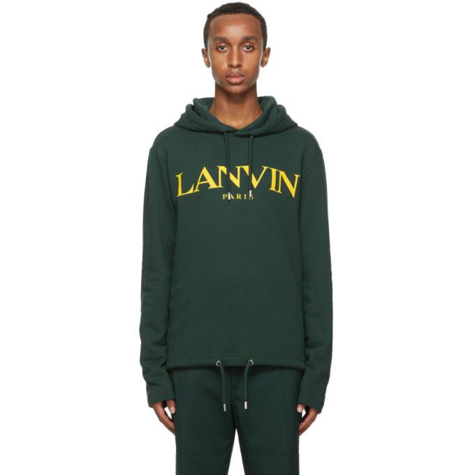 Photo: Lanvin Green Logo Hoodie