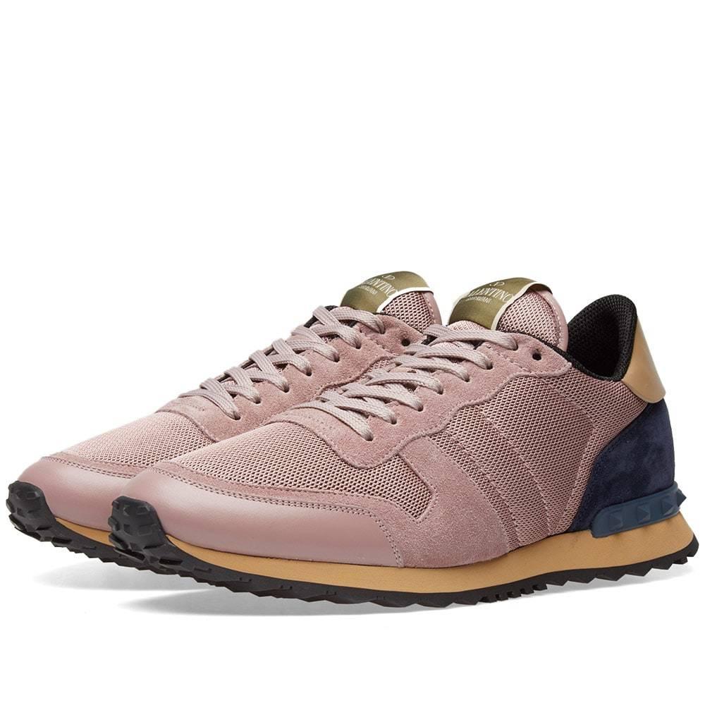 Valentino Mesh Rockrunner Sneaker Pink