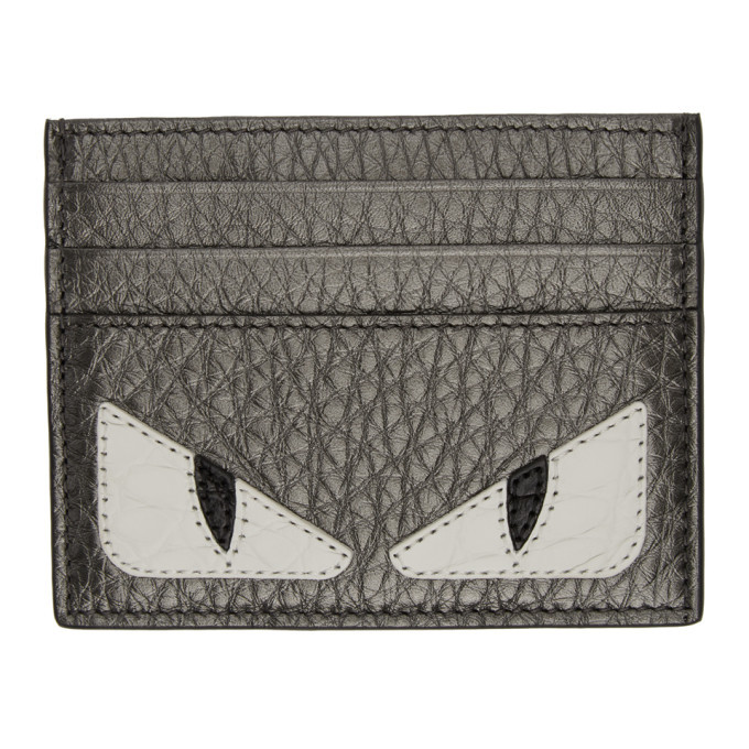Photo: Fendi Grey Bag Bugs Card Holder