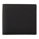 Smythson Black Panama Bifold Wallet