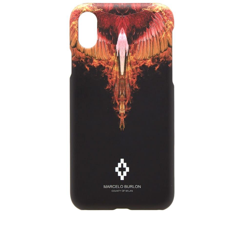 Marcelo Burlon Orange Flame iPhone X Case