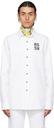 Raf Simons White & Grey Denim Slim Fit Shirt