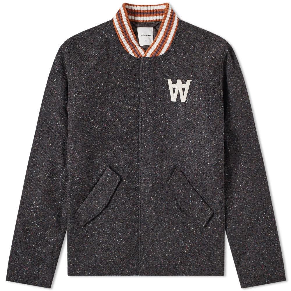Wood Wood Anthony Wool Varsity Jacket Dark Multi