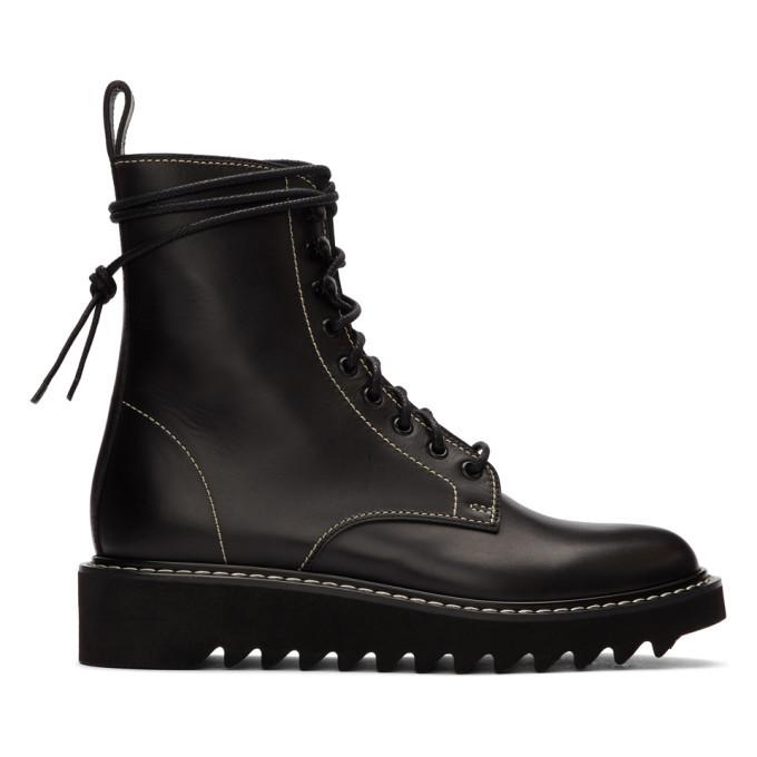 Photo: Giuseppe Zanotti Black Lace-Up Boots