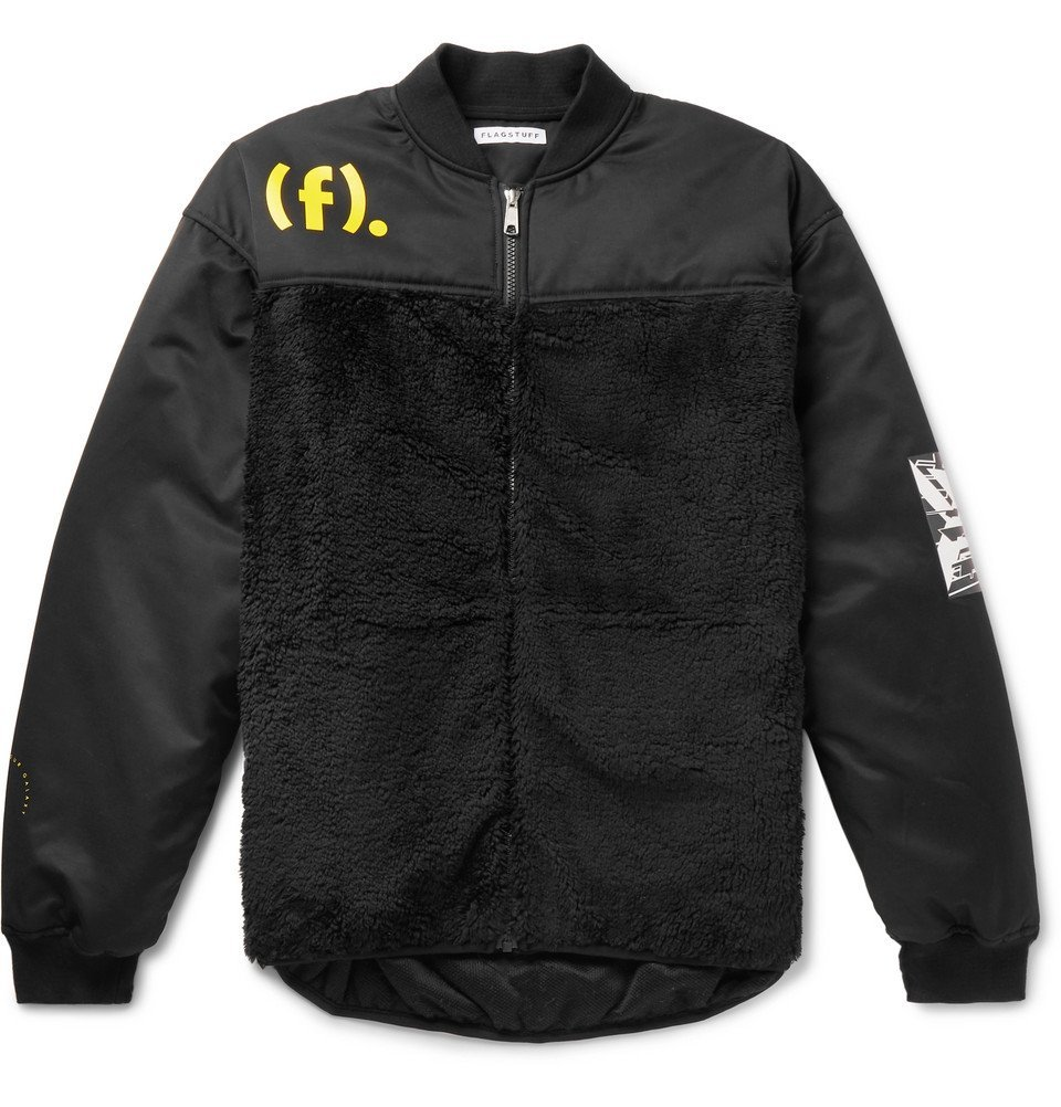 Photo: Flagstuff - Shell and Fleece Jacket - Black