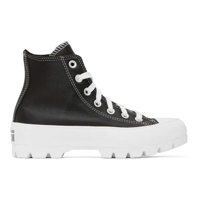 Photo: Converse Black Chuck Lugged High Sneakers