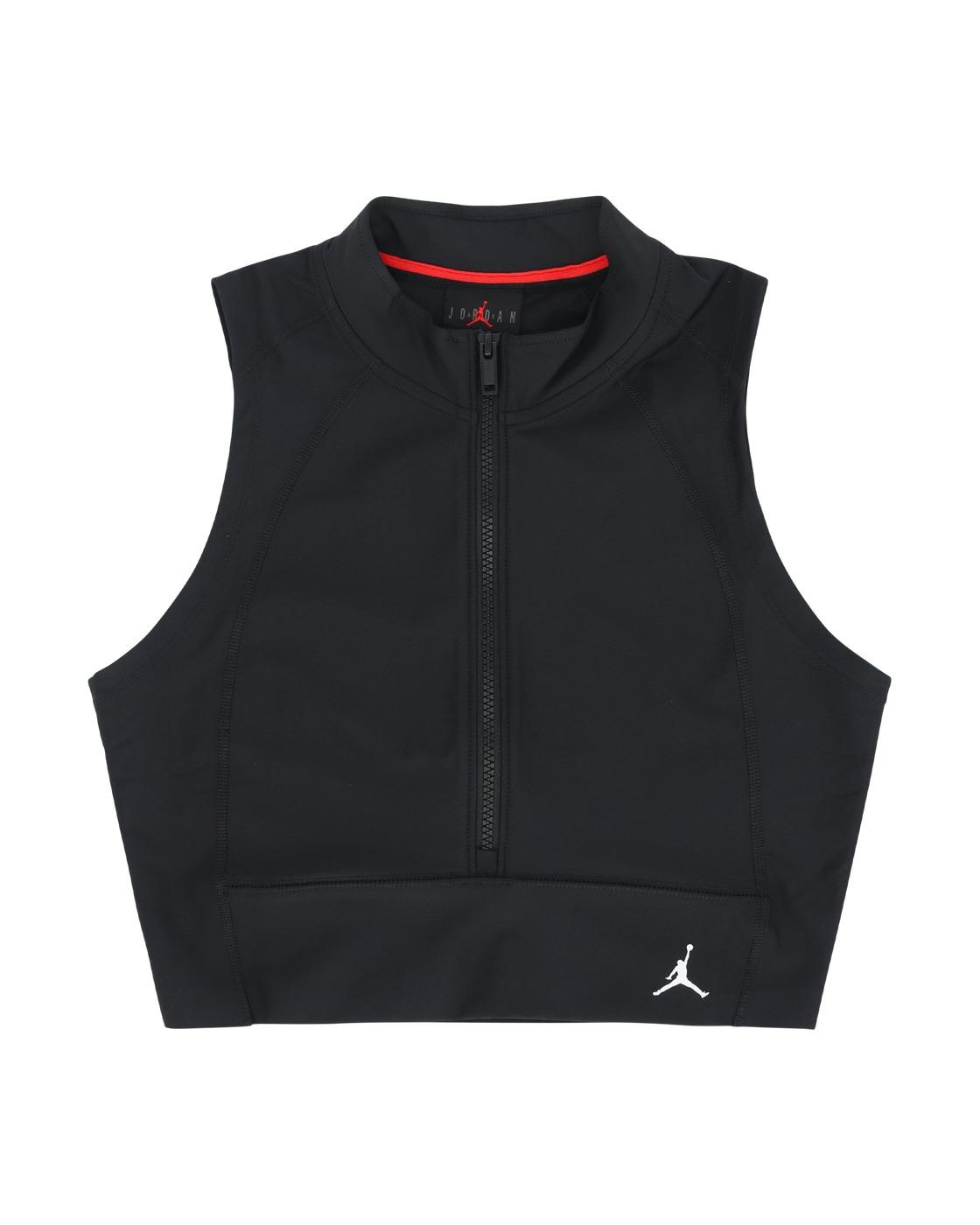 Nike Jordan Body Con Crop Top Black/White