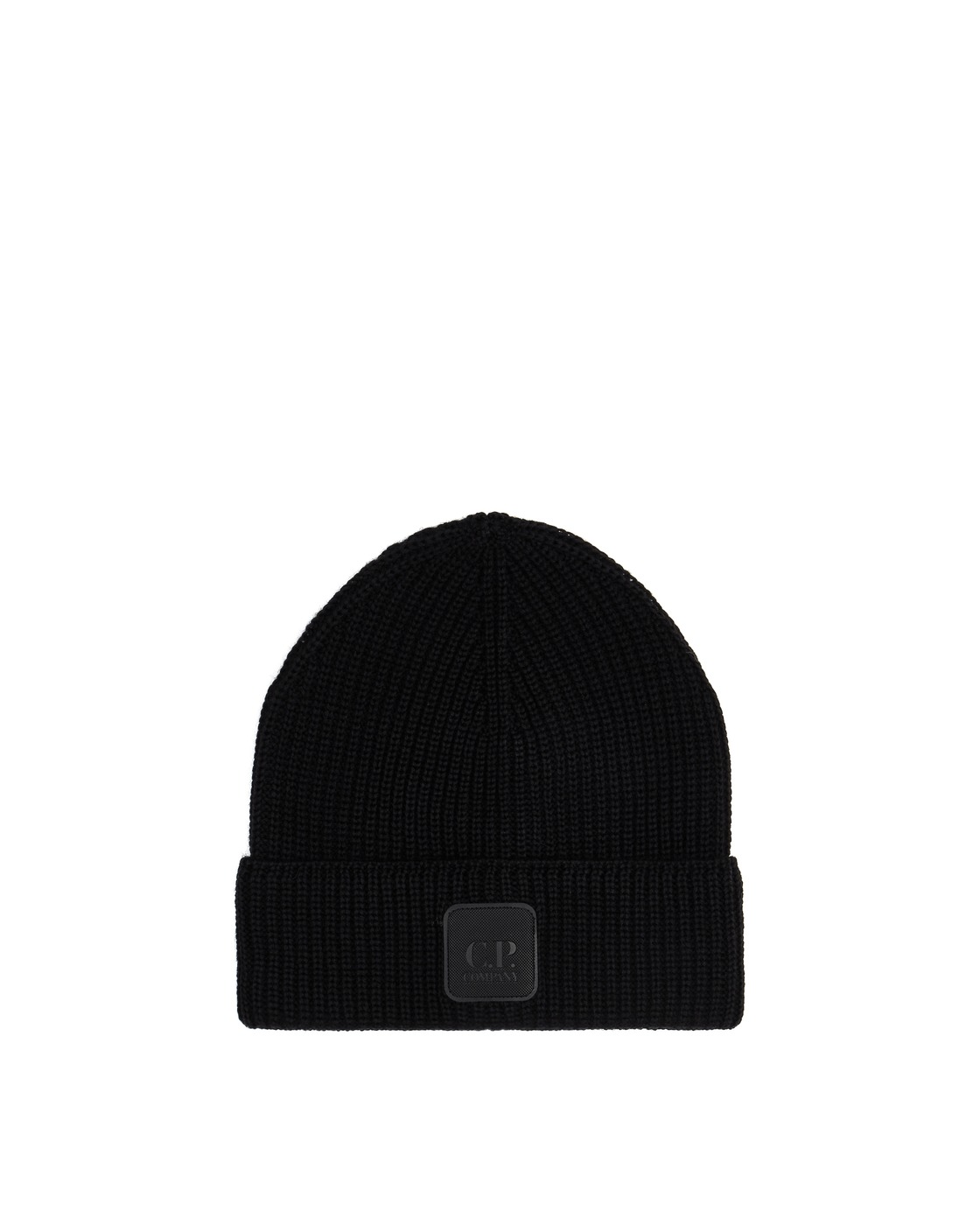Photo: C.P. Company Logo Badge Beanie Black