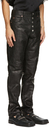 Martine Rose Black Croc Leather Jujy Trousers